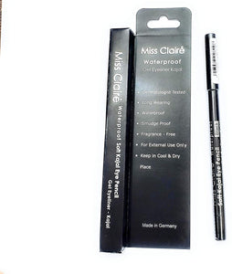 Miss Claire waterproof soft Kajal eye pencil gel eyeliner kajal - shoper2shoper.com