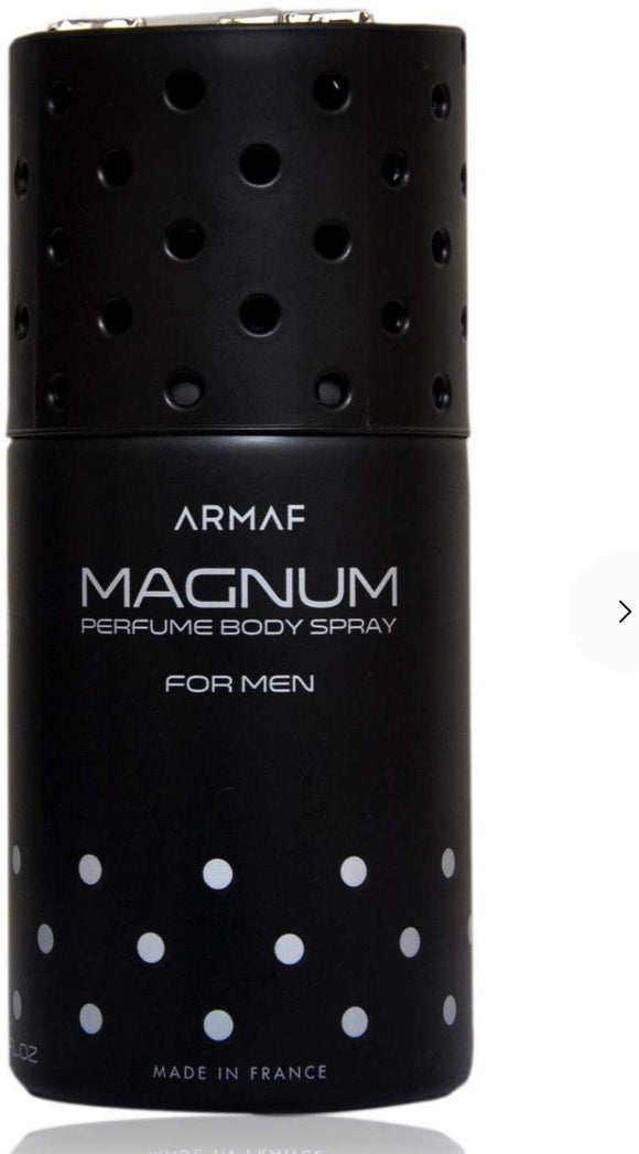 Armaf Magnum Black A2 Body Spray For Men 250 ml - shoper2shoper.com