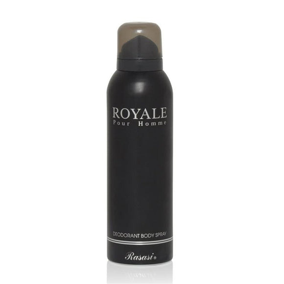 Rasasi Royale Black Deodorant For Men 200ml - shoper2shoper.com