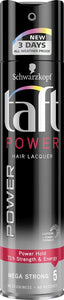 Schwarzkopf Taft Power Hair Lacquer Mega Strong 5 (250ml) - shoper2shoper.com