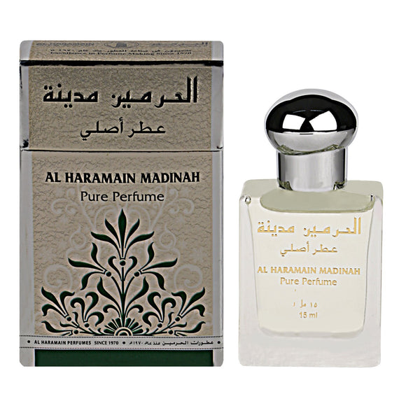 Al Haramain Madinah Concentrated Pure Perfume Rollon (Attar,15Ml) - shoper2shoper.com
