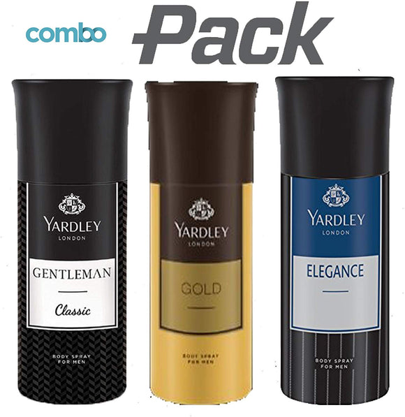Yardley London Gentleman Classic Deo with Gold Body Spray and Elegance Deo for Men (Combo Pack) - shoper2shoper.com
