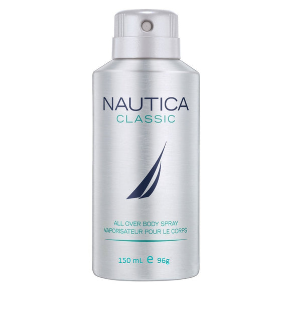 Nautica Classic Deodorant Body Spray for Men, 150 ml - shoper2shoper.com