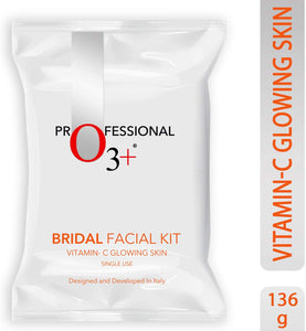 O3+ Bridal Facial Kit Vitamin C Glowing Skin for Bright & Radiant Complexion Suitable for All Skin Types (136g, Single Use) - shoper2shoper.com
