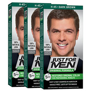 Just For Men Original Formula Men's Hair Color, Dark Brown (Pack of 3) - shoper2shoper.com