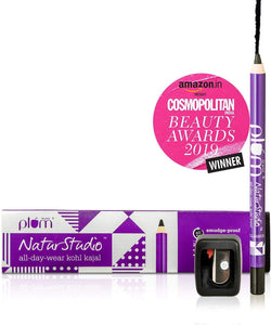 Plum NaturStudio All-Day-Wear Kohl Kajal(with Flip-tip sharpener inside the box) - shoper2shoper.com