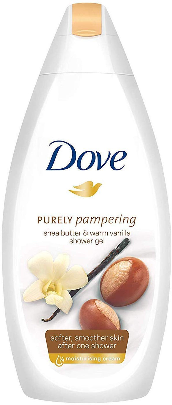 Reg Dove Pampering with Shea Butter and Warm Vanilla Body Wash (500 ml) - shoper2shoper.com