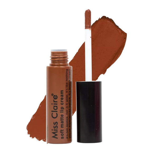 Miss Claire Soft Matte Lip Cream 63, Brown, 6.5 Grams, Beige, 6 g - shoper2shoper.com