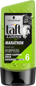 Schwarzkopf Taft Looks Marathon Power Gel - Long Lasting Hold 6 (150ml) - shoper2shoper.com