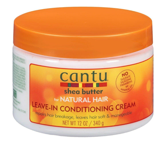 Cantu Shea Butter for Natural Hair Leave In Conditioning Repair Cream, 12 oz/340 gm - shoper2shoper.com