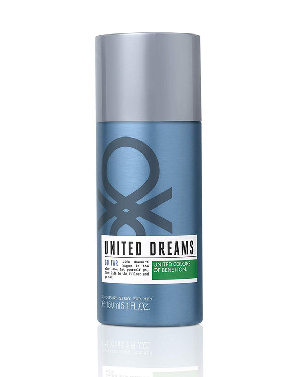 United Colors of Benetton United Dreams Go Far Deodorant, 150ml - shoper2shoper.com