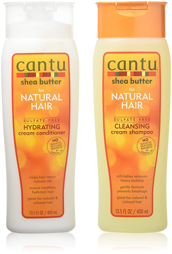 Cantu Shea Butter for Natural Hair Double Combo Shampoo and Conditioner - shoper2shoper.com