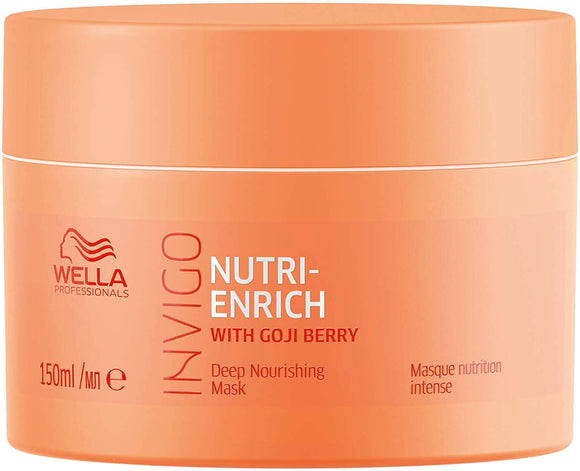 Wella Professionals Invigo Nutri Enrich Deep Nourishing Mask (For Dry and Damaged Hair), 150 ml - shoper2shoper.com