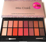 Miss Claire Miss Claire Ultra Glow Eyeshadow Palette 1, Multi, 16 grams, Multicolor, 16 g - shoper2shoper.com