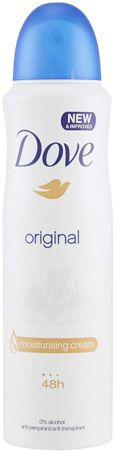 Dove Spray Moisturising Cream Deodorant, Original, 150ml (Pack of 3) - shoper2shoper.com
