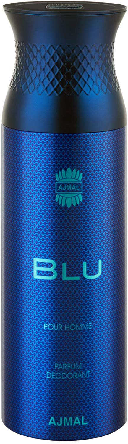 Ajmal Blu Deodorant For Man 200 ml - shoper2shoper.com