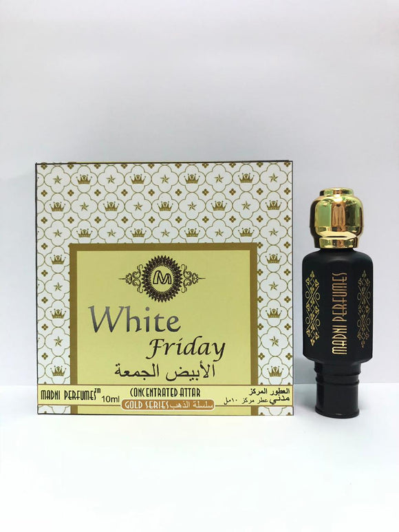 Madni Perfumes White Friday Gold Series Concentrated Attar/Ittar 10ml - shoper2shoper.com
