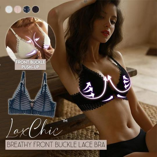 Breathy Front Buckle Lace Bra