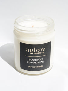 Bourbon Pumpkin Soy Aglow Candle Co.
