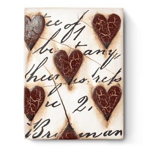 Red Hearts With Script T01 Sid Dickens Memory Block