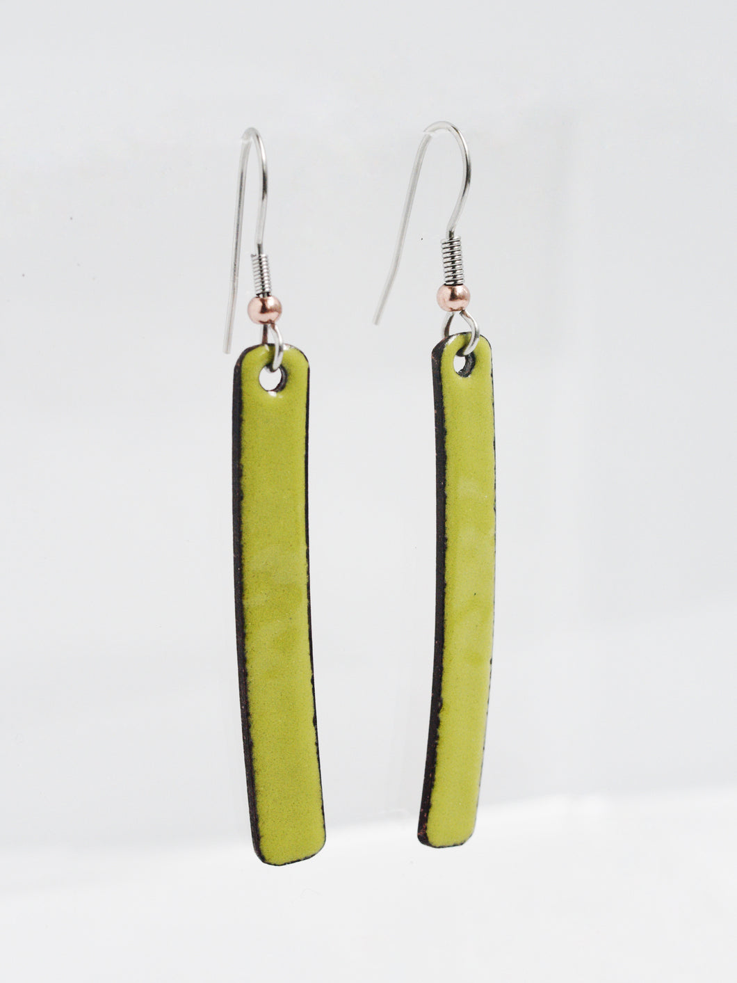 Avocado Stix Copper Enamel Earrings