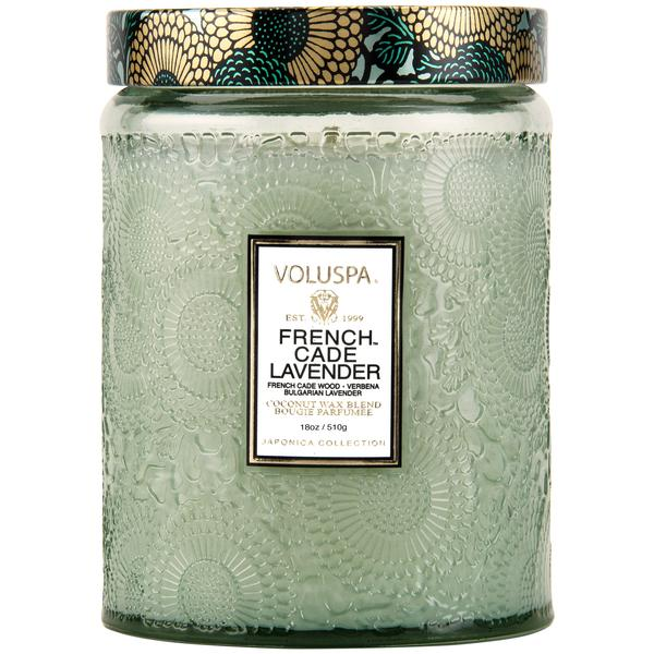 French Cade Lavender Tall Jar Candle