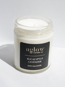Eucalyptus Lavender Soy Aglow Candle Co.