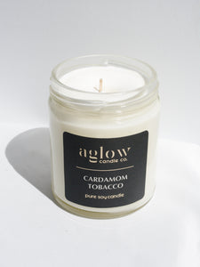 Cardamom Tobacco Soy Aglow Candle Co.