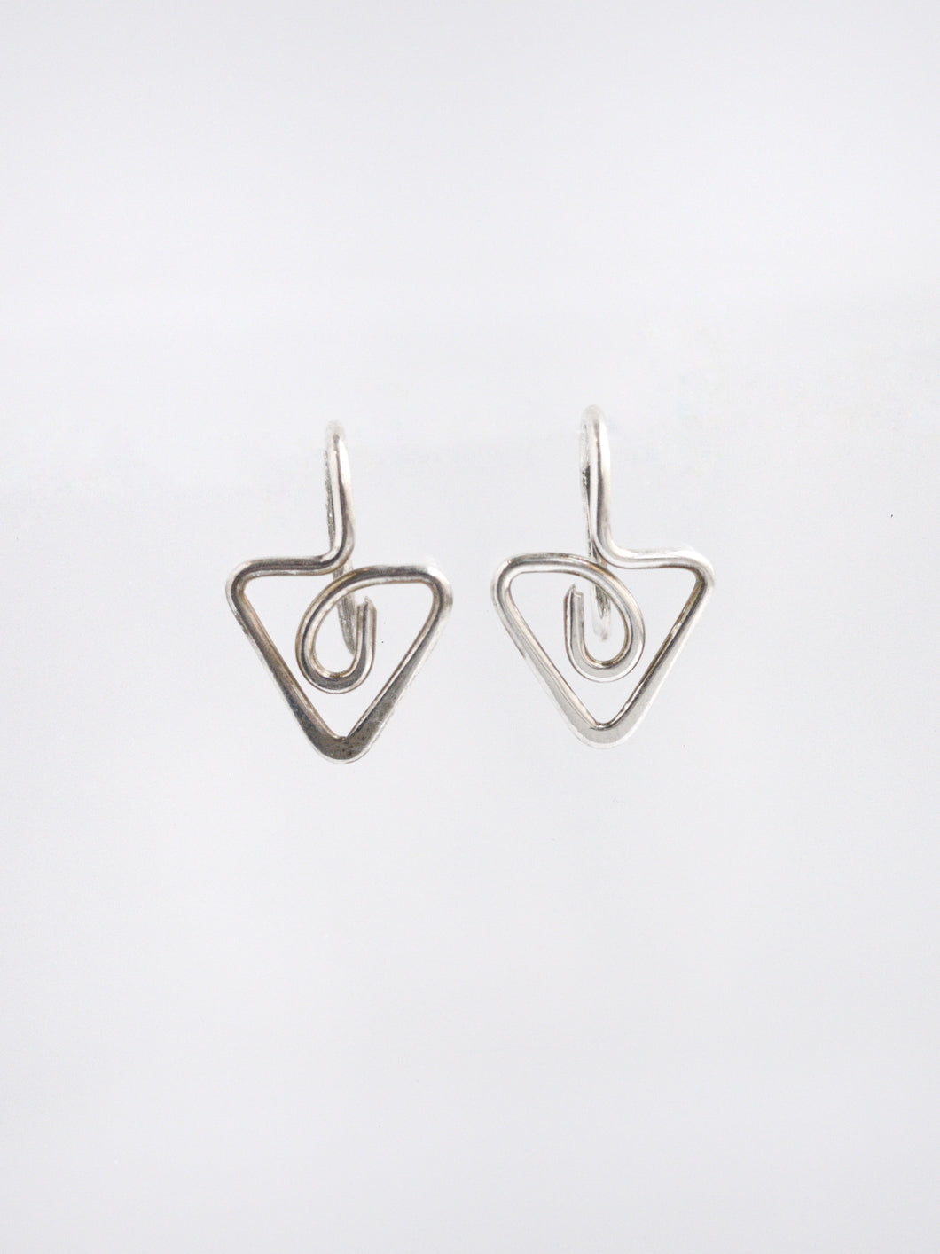 Sterling Silver Slide Through Earrings
