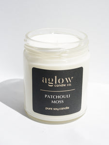 Patchouli Moss Soy Aglow Candle Co.