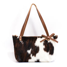 Load image into Gallery viewer, Brown & White Naomi Leather Handbag