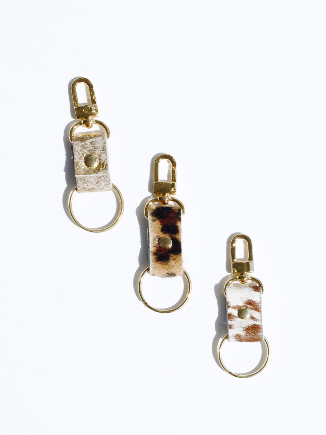 Cowhide Leather Keychain