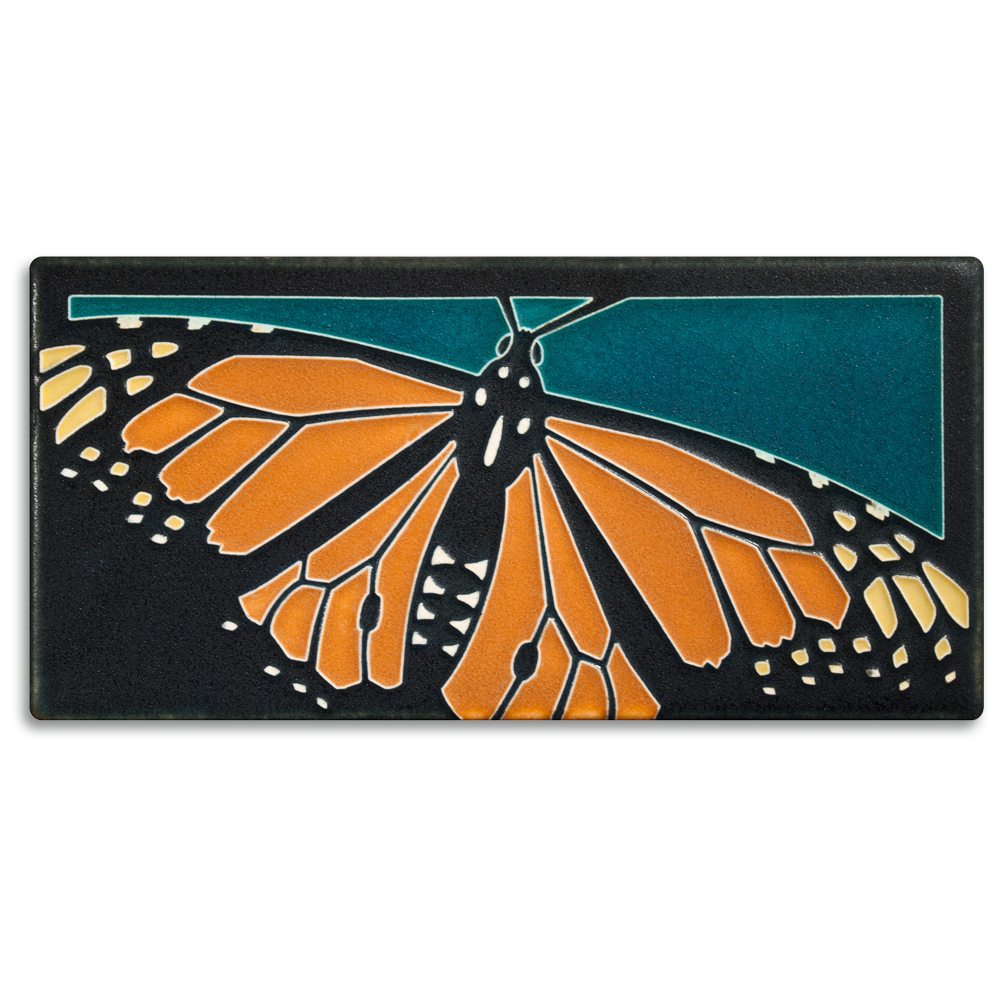Monarch Butterfly Turquoise Tile
