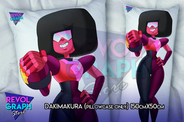 Dakimakura, Fullbody pillow case - Garnet / Ruby / Saphire (Steven Universe) two side printed