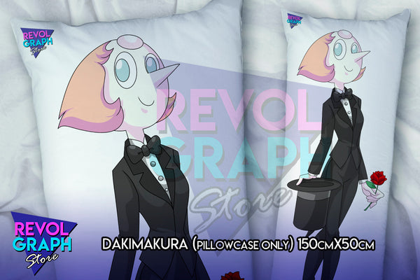 Dakimakura, Fullbody pillow case - Pearl tuxedo/rocker style (Steven Universe) two side printed