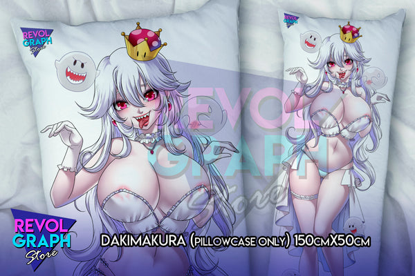 Dakimakura, Fullbody pillow case - Bowsette and Boosette (Super Mario's Internet meme) NSFW