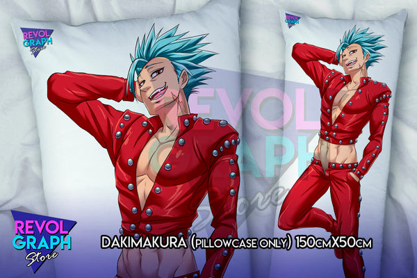 Dakimakura, Fullbody pillow case - Ban and King (Seven deadly sins/Nanatsu no taizai) NSFW