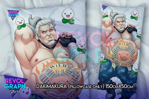 Dakimakura, Fullbody pillow case - Roadhog (Overwatch)