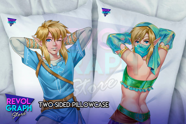 Dakimakura, Fullbody pillow case - Link Champion costume/Gerudo's female costume (LoZ Breath of the wild)