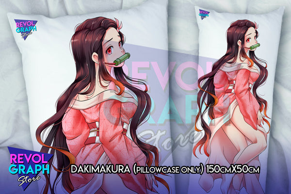 Dakimakura, Fullbody pillow case - Nezuko Kamado (Demon slayer / Kimetsu no Yaiba) 2 sides printed NSFW