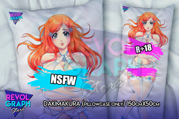Dakimakura, Fullbody pillow case - Inoue Orihime sexy lingerie (Bleach) 2 sides printed NSFW