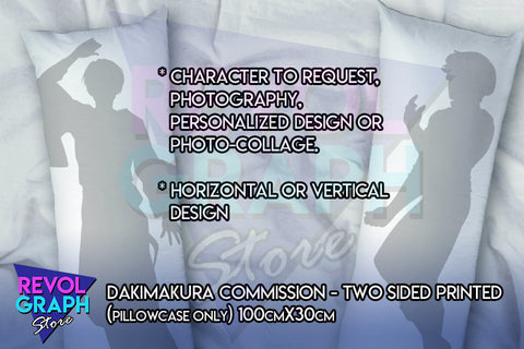 100cm x 30cm Fullbody pillow case - Dakimakura Custom/Commission Character - Two sided printed