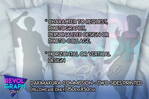 150cm x 50cm Fullbody pillow case - Dakimakura Custom/Commission Character - Two sided printed