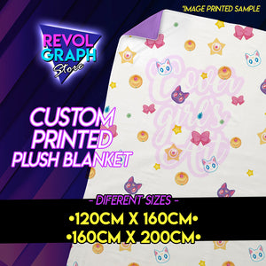 Custom printed plush blanket - Custom/Commission Character