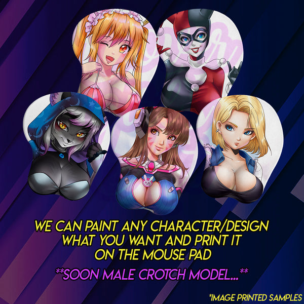 Oppai mouse pad 3D - Breast model printed mouse pad, Custom/Commission Character