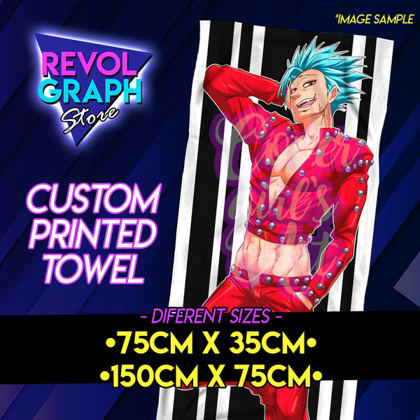 Custom printed towel - Custom/Commission Character