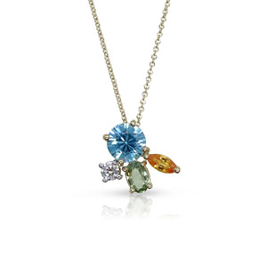 Topaz Bouquet Necklace