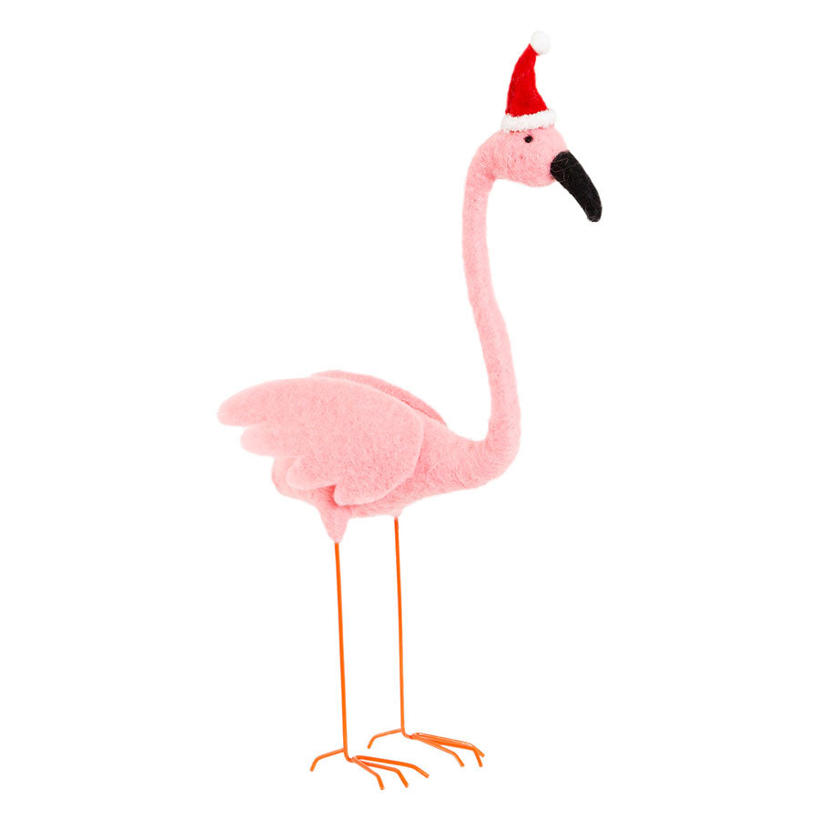 standing felt flamingo in pants hat decoration sass & belle