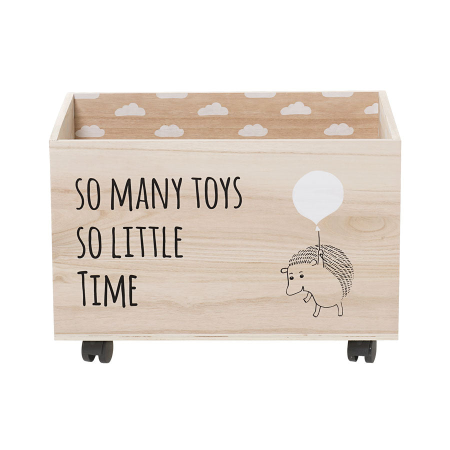 so many toys so little time wooden toy box on wheels