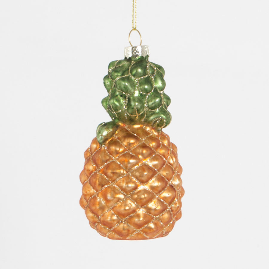 large glittered pineapple hanging decoration sass & belle